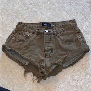 Mustard Seed Olive Green Shorts Size Small